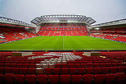 LIVERPOOL, ENGLAND - Saturday, March 9, 2019: A general view of Anfield from the Kenny Dalglish Stand looking out onto the new Main Stand before the FA Premier League match between Liverpool FC and Burnley FC. (Pic by David Rawcliffe/Propaganda)