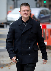 © London News Pictures. 16/10/2013. London, UK. Former LEader of the EDL (English Defence League) TOMMY ROBINSON aka Stephen Yaxley-Lennon arriving at Westminster Magistrates Court in London where he is charged with obstructing police officers while taking part in a protest walk to Woolwich Barracks following the killing of Drummer Lee Rigby. Photo credit: Ben Cawthra/LNP