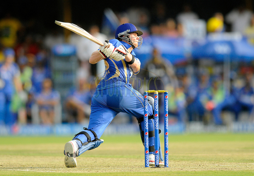 Steven Smith of the Rajatshan Royals bats during match 25 of the Pepsi Indian Premier League Season 2014 between the Rajasthan Royals and the Kolkata Knight Riders held at the Sardar Patel Stadium, Ahmedabad, India on the 5th May  2014<br /> <br /> Photo by Pal Pillai / IPL / SPORTZPICS      <br /> <br /> <br /> <br /> Image use subject to terms and conditions which can be found here:  http://sportzpics.photoshelter.com/gallery/Pepsi-IPL-Image-terms-and-conditions/G00004VW1IVJ.gB0/C0000TScjhBM6ikg