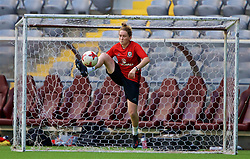 ASTANA, KAZAKHSTAN - Friday, September 15, 2017: Wales' Rachel Rowe training at the Astana Arena ahead of the FIFA Women's World Cup 2019 Qualifying Round Group 1 match against Kazakhstan. (Pic by David Rawcliffe/Propaganda)