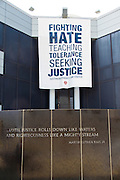 The civil rights museum. Fountain by Maya Lin, Montgomery, AL, USA