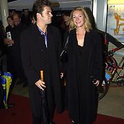 Opening Utrechts Filmfestival, premiere de Grot, Charlotte Besijn met vriend Peter