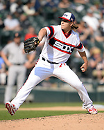 CHICAGO - SEPTEMBER 10:  Jace Fry #71 of the Chicago White Sox pitches against the San Francisco Giants on September 10, 2017 at Guaranteed Rate Field in Chicago, Illinois.  The White Sox defeated the Giants 8-1.  (Photo by Ron Vesely) Subject:   Jace Fry