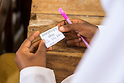 'Everything's OK' One of the positive English phrases used during a mid class activity of charades at Mingoyo school as part of the VSO / ICS Elimu Fursa project (Opportunities in Education) Lindi, Lindi region. Tanzania.