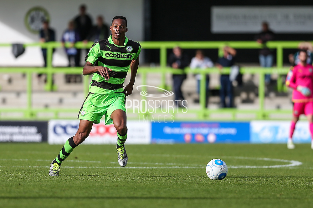 Forest Green Rovers Ethan Pinnock(16) runs forward during the Vanarama National League match between Forest Green Rovers and Barrow at the New Lawn, Forest Green, United Kingdom on 1 October 2016. Photo by Shane Healey.