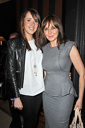 Left to right, KATIE KING and her mother CAROL VORDERMAN at a party following a gala evening of Daniela Lavender's one woman show 'A Woman Alone'  The party was held at Blakes Hotel, Roland Gardens, London SW7 on 7th April 2011.