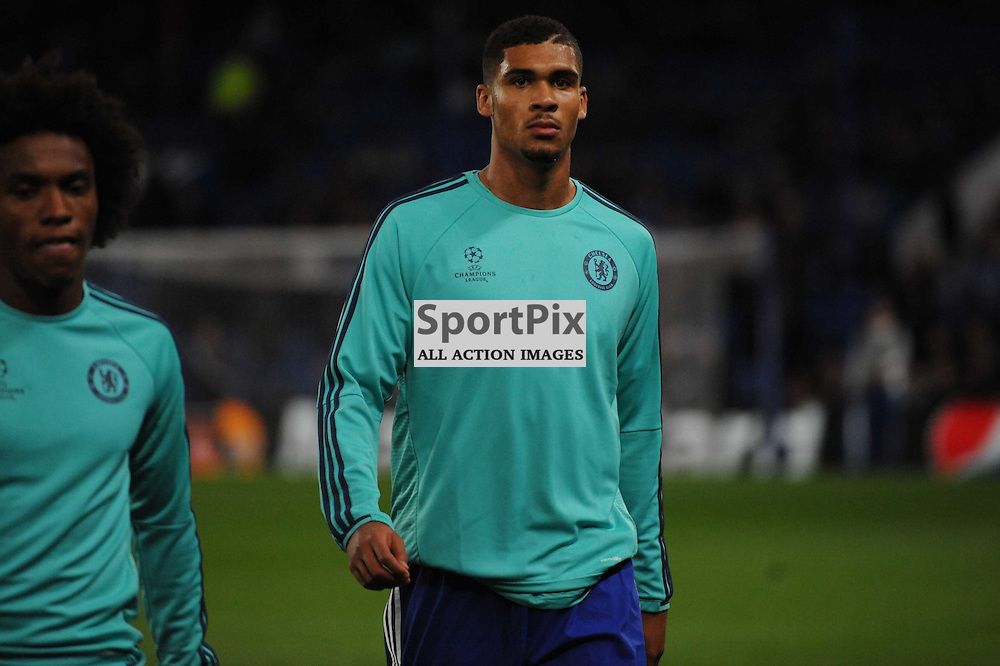 Chelseas Ruben Loftus Cheek warms up before the Chelsea v Maccabi Tell-Aviv champions league match in the group stage.