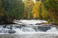 64797-00602 Bond Falls in fall, Ontonagon County, MI