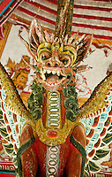 Carved dragon in the Hall of Justice at Kerta Gosa in Klungklung in Bali Indonesia