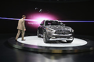 The Infiniti QX70 was on display, which RICHARD WALSH of Inifiniti went to, at the New York International Auto Show 2016, at the Jacob Javits Center. This was Press Preview Day one of NYIAS, and the Trade Show will be open to the public for ten days, March 25th through April 3rd.