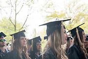 Miranda Oxbrough participates in spring undergraduate commencement. Photo by Ben Siegel