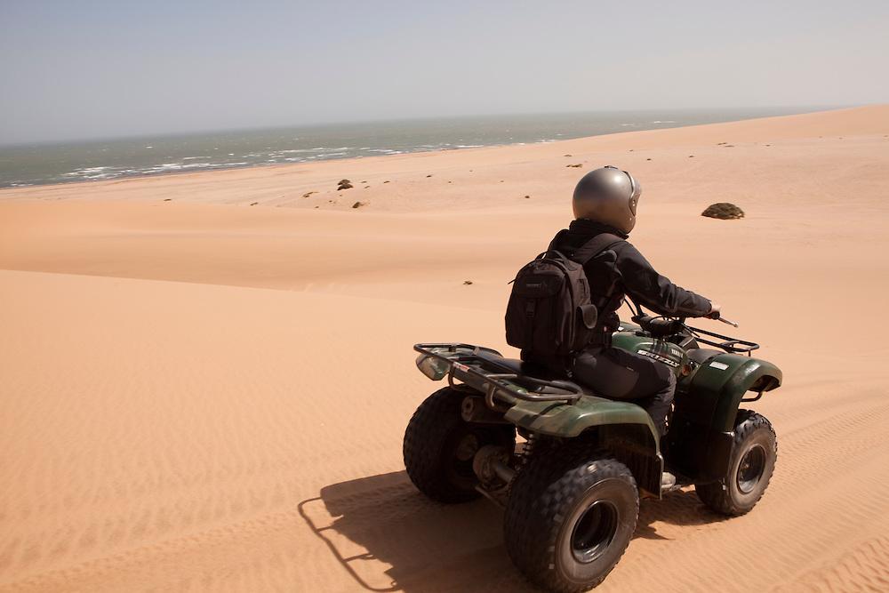 Quad adventure at Swakopmund in Namibia.
