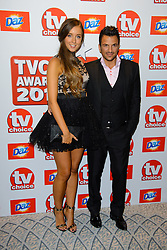 TV Choice Awards 2013 - London.<br /> Emily MacDonagh and Peter Andre arriving at the TV Choice Awards 2013, The Dorchester Hotel, London, United Kingdom. Monday, 9th September 2013. Picture by Chris  Joseph / i-Images