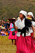 A WOMAN DURING A TRADITIONAL DANCE AT THE HATUN LUYA DFESTIVAL., .   The Hatun Luya is a festival celebrated every september 13th, where everyone from the surrounding areas comes together. During this festivity, you can witness demonstrations of popular customs.