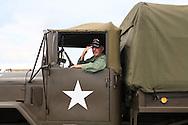 veteran saluting from deuce and a half truck Kokomo Indiana Vietnam Veterans Reunion 2012