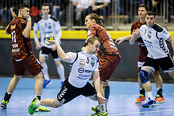 Patrik Leban of RD Ribnica during handball match between RD Riko Ribnica and Füchse Berlin in Group Phase of EHF European Cup 2016/17, on February 9, 2017 in Ribnica, Slovenia. Photo by Vid Ponikvar / Sportida