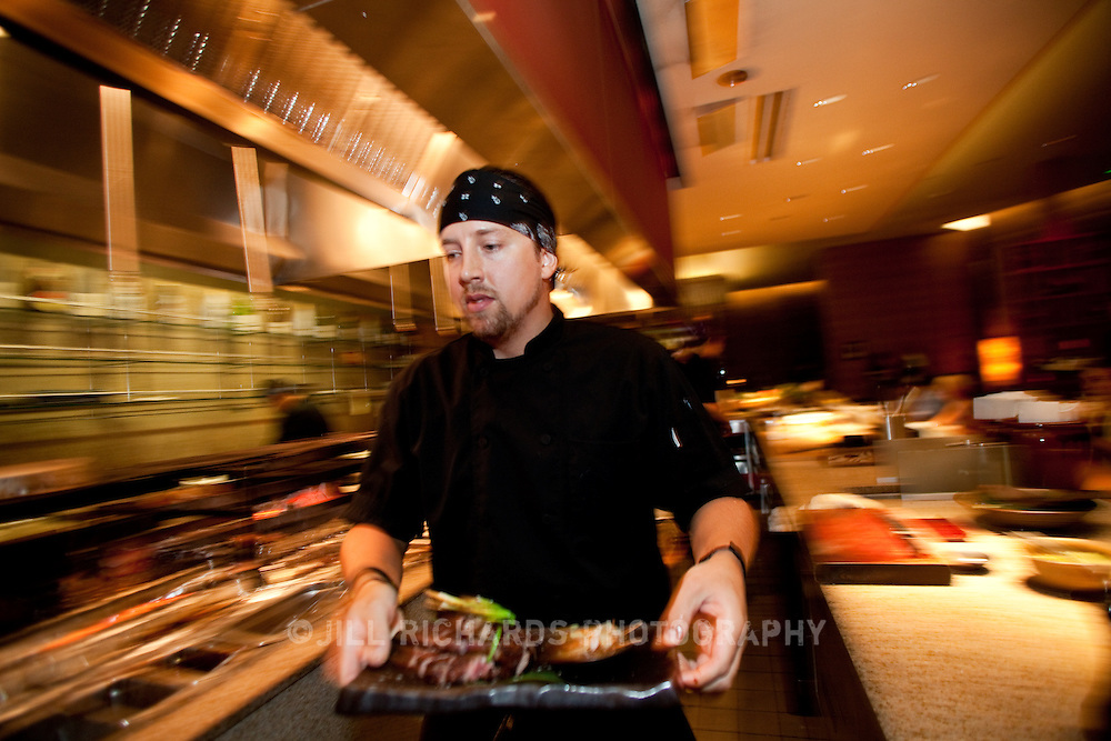 "Scottsdale's Roka Akor features Robatayaki style ""open charcoal"" cuisine. They specialize in prime steak and sushi and were voted one of the Top 10 Sushi Spots in the United States by Bon Appetit. Pictured is executive chef Jason Alford...Roka Akor is located at 7299 North Scottsdale Road  Paradise Valley, AZ 85253"