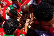 Belo Horizonte_MG, Brasil...1a Copa Kaiser de Futebol Amador de Belo Horizonte. Na foto partida entre  Inconfidencia (Branco) x  Portuguesa (Amarelo)...1st Kaiser Cup of Amateur Football in Belo Horizonte. The match was between  Inconfidencia (white) x  Portuguesa (yellow)...Foto: NIDIN SANCHES / NITRO