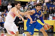 DESCRIZIONE : Berlino Berlin Eurobasket 2015 Group B Spain Italy<br /> GIOCATORE : Alessandro Gentile<br /> CATEGORIA : palleggio tecnica<br /> SQUADRA : Italy<br /> EVENTO : Eurobasket 2015 Group B<br /> GARA : Spain Italy<br /> DATA : 08/09/2015<br /> SPORT : Pallacanestro<br /> AUTORE : Agenzia CiamilloCastoria/I.Mancini<br /> Galleria : EuroBasket 2015<br /> Fotonotizia : Berlino Berlin Eurobasket 2015 Group B Spain Italy