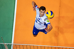 01-05-2019 NED: Abiant Lycurgus - Achterhoek Orion, Groningen<br /> Final Round 3 of 5 Eredivisie volleyball, The men's title fight is incredibly exciting. In an atmospheric Martini Plaza, Achterhoek Orion managed to strike tonight after two lost sets against reigning Dutch champion Abiant Lycurgus: 2-3 (25-17, 25-13, 23-25, 29-31, 11-15). That gives a 2-1 lead in the best-of-five series / Stijn Held #3 of Lycurgus