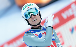 03.01.2016, Bergisel Schanze, Innsbruck, AUT, FIS Weltcup Ski Sprung, Vierschanzentournee, Bewerb, im Bild Daiki Ito (JPN) // Daiki Ito of Japan reacts after his Competition Jump of Four Hills Tournament of FIS Ski Jumping World Cup at the Bergisel Schanze, Innsbruck, Austria on 2016/01/03. EXPA Pictures © 2016, PhotoCredit: EXPA/ JFK