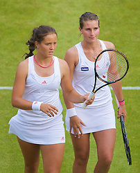 LONDON, ENGLAND - Wednesday, June 24, 2009: Laura Robson (GBR) and her partner Georgie Stoop (GBR) during the Ladies' Doubles 1st Round match on day three of the Wimbledon Lawn Tennis Championships at the All England Lawn Tennis and Croquet Club. (Pic by David Rawcliffe/Propaganda)
