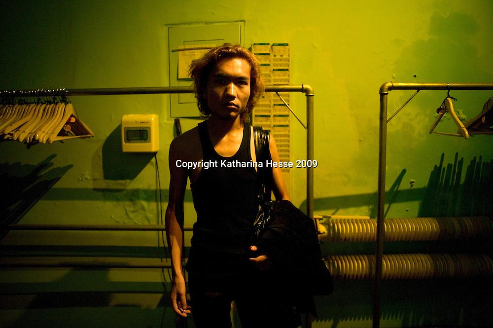 BEIJING, AUG.5,2009 : Mu Quan, born in 1981, after a concert in Yugong Yishan..