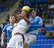 Dundee&rsquo;s Yordi Teijsse and St Johnstone&rsquo;s Joe Shaughnessy - St Johnstone v Dundee, Ladbrokes Scottish Premiership at McDiarmid Park, Perth. Photo: David Young<br /> <br />  - &copy; David Young - www.davidyoungphoto.co.uk - email: davidyoungphoto@gmail.com