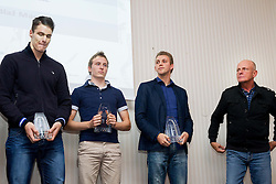 Blaz Marn, Mitja Lindic, Zan Rudolf and his coach Svjetlan Vujasin during the Slovenia's Athlete of the year award ceremony by Slovenian Athletics Federation AZS on November 8, 2013 in Grand Hotel Toplice, Bled, Slovenia. Photo by Vid Ponikvar / Sportida