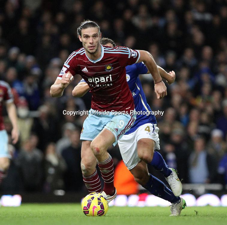 20 December 2014. Premiership. West Ham v Leicester.<br /> Andy Carroll of West Ham.<br /> Photo: Charlotte Wilson