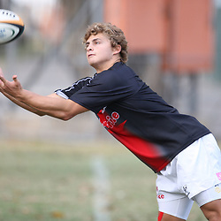 Patrick Lambie<br /> is pictured during the Sharks training session at the Absa Stadium on Thursday 6th May 2010 in Durban, South Africa. . Photo by Steve Haag / Gallo Images