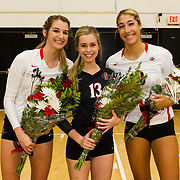 18 November 2017:  The San Diego State women's volleyball team closes out it's season against #24 Colorado State University. The Aztecs fell to the Rams in three sets. <br /> www.sdsuaztecphotos.com