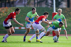 Tit Hocevar of Slovenia during rugby match between National team of Slovenia (green-blue) and Serbia (red-white) at EUROPEAN NATIONS CUP 2016-17, Conference 2, South, on October 29, 2016, at ZAK Stadium, Ljubljana, Slovenia. Photo by Matic Klansek Velej / Sportida