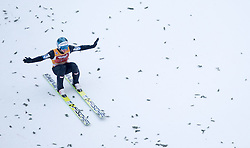 04.01.2015, Bergisel Schanze, Innsbruck, AUT, FIS Ski Sprung Weltcup, 63. Vierschanzentournee, Innsbruck, 2. Wertungsdurchgang, im Bild Michael Hayboeck (AUT) // Michael Hayboeck of Austria reacts after his second competition jump for the 63rd Four Hills Tournament of FIS Ski Jumping World Cup at the Bergisel Schanze in Innsbruck, Austria on 2015/01/04. EXPA Pictures © 2015, PhotoCredit: EXPA/ JFK