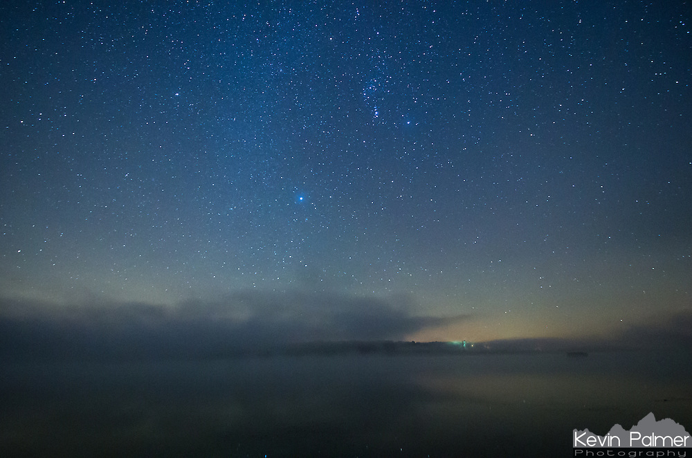 The fog was mesmerizing as it swirled around Spring Lake on this night. That is until it got too thick to see the stars.