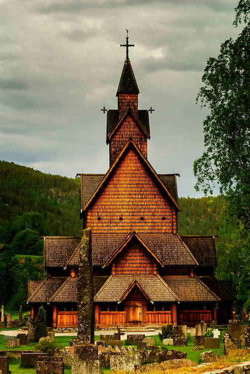 The historic Heddal stavechurch in Notodden, Telemark.