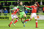 Forest Green Rovers Scott Laird(3) controls the ball during the EFL Sky Bet League 2 match between Forest Green Rovers and Swindon Town at the New Lawn, Forest Green, United Kingdom on 22 September 2017. Photo by Shane Healey.