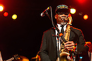 Karl Denson performs at the Showbox Market on Thursday, February 19, 2015.