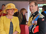 Picture shows HRH The Earl  of Wessex at The Army Reception.<br />  The Queen and The Duke of Edinburgh today attended the Armed Forces Parade &amp; Muster at Windsor. <br /> More than 2,500 troops paraded before The Queen and The Duke of Edinburgh. Sailors, soldiers and Royal Air Force personnel from nearly all areas of the Armed Forces were reperesented in the main body of the parade, together with a tri-Service Guard of Honour for Her Majesty, and six military bands. <br /> The route passed through the Quadrangle  of Windsor Castle, down through the town of Windsor along Castle Hill, Thames Street and Datchet Road, and into Home Park via Town Gate.<br /> <br /> 19th May 2012.<br /> Picture by Trooper Mark Larner, RY.