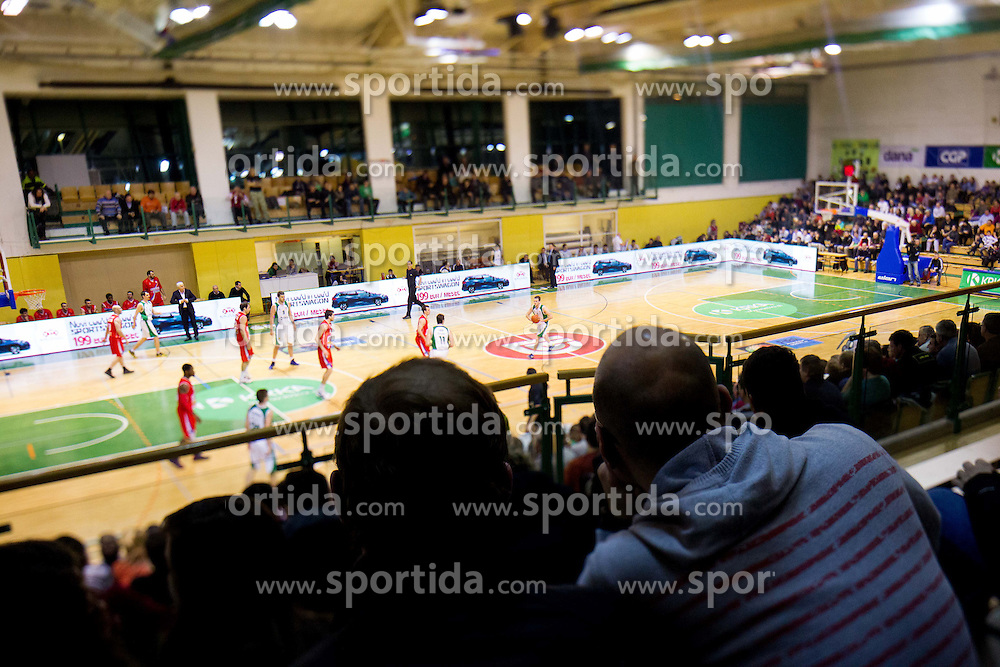 Arena during basketball match between KK Krka and Radnicki (SRB) in 20th Round of ABA League, on February 3, 2013 in Arena Leon Stukelj, Novo mesto, Slovenia. (Photo By Vid Ponikvar / Sportida.com)