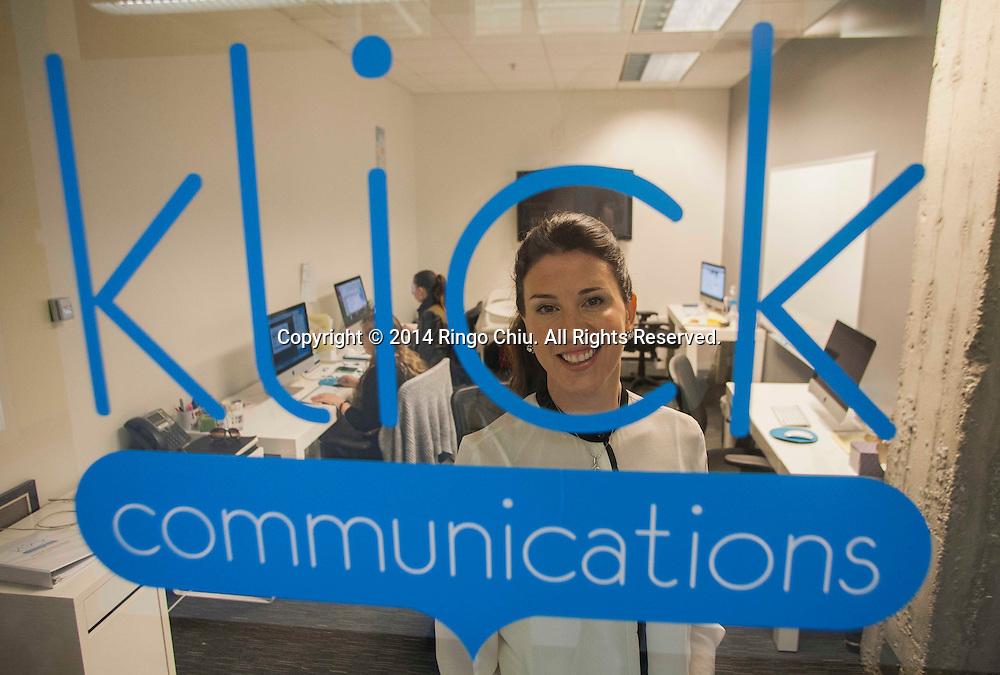 Charlotte Crivelli, founder of Klick Communications LA. <br /> (Photo by Ringo Chiu/PHOTOFORMULA.com)