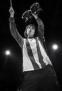Ian Brown of The Stone Roses live on stage, Stockholm, 1980s/90s