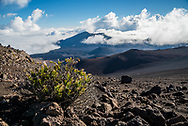 Views along the Keonehe'ehe'e (Sliding Sands) Trail in Haleakala National Park, Maui, Hawaii.