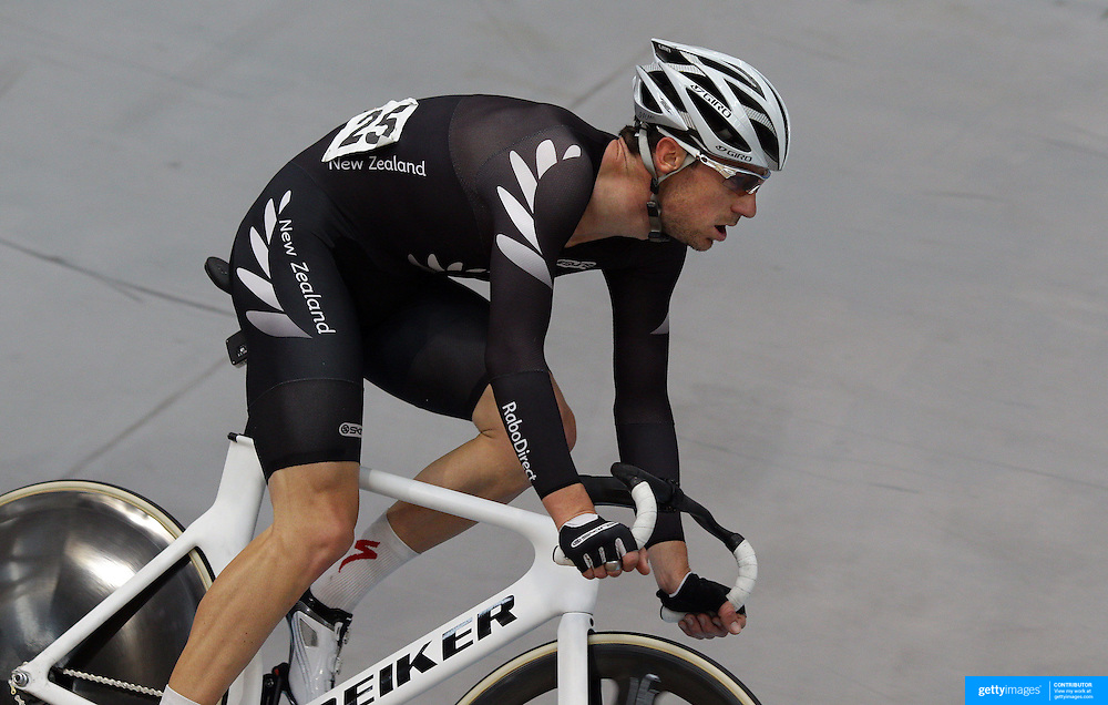 Marc Ryan, New Zealand, in action during the Men Omnium at the 2012 Oceania WHK Track Cycling Championships, Invercargill, New Zealand. 21st November  2011. Photo Tim Clayton