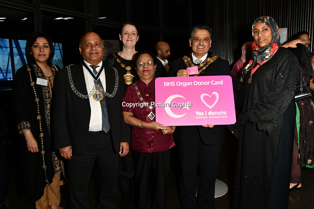 Councillor attend The BAME Donor Gala - Awareness gala hosted by the Health Committee with live music and poetry performances at City Hall at The Queen's Walk, London, UK. 18 March 2019.