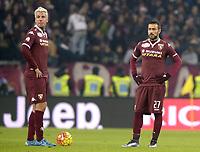 Delusione Maxi Lopez e Fabio Quagliarella Torino,<br /> Torino 16-12-2015, Juventus Stadium, Football Calcio 2015/2016 Coppa Italia, derby, Juventus - Torino, Foto Filippo Alfero/Insidefoto