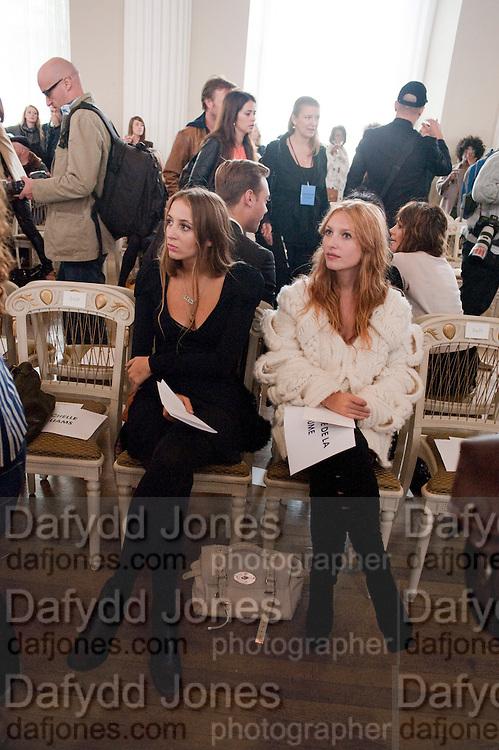 HARLEY VERA NEWTON; JOSEPHINE DE LA BAUME, Julian Macdonald fashion show. Banqueting House. London. 19 September 2010. -DO NOT ARCHIVE-© Copyright Photograph by Dafydd Jones. 248 Clapham Rd. London SW9 0PZ. Tel 0207 820 0771. www.dafjones.com.