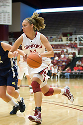 November 1, 2009; Stanford, CA, USA;  Stanford Cardinal forward Kayla Pedersen (14) during the first half against the Vanguard Lions at Maples Pavilion.