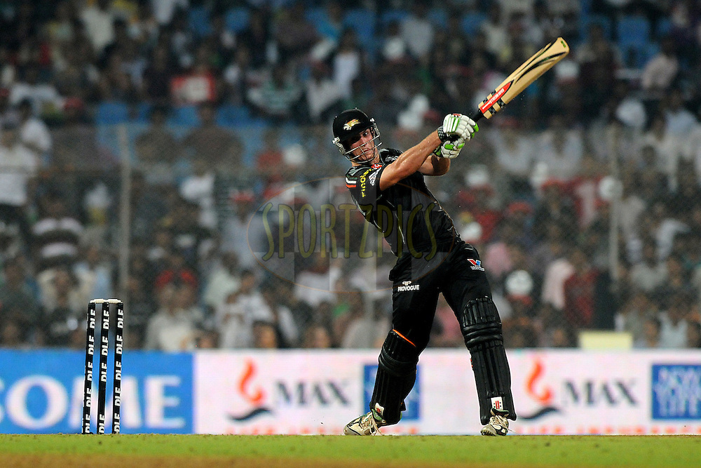 Mitchel Marsh of Pune Warriors India bats during  match 62 of the Indian Premier League ( IPL ) Season 4 between the Pune Warriors and the Deccan Chargers held at the Dr DY Patil Sports Academy, Mumbai India on the 16th May 2011..Photo by Pal Pillai/BCCI/SPORTZPICS.