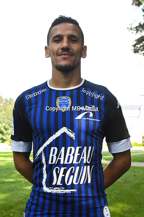Chaouki Ben Saada during the photocall of Troyes Estac for season of ligue 2 on September 3rd 2016 in Troyes<br /> Photo : Philippe Le Brech / Icon Sport